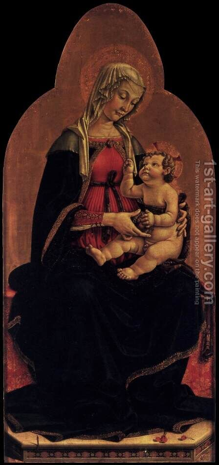 Madonna and Child 1481 by D'amelia Piermatteo - Reproduction Oil Painting