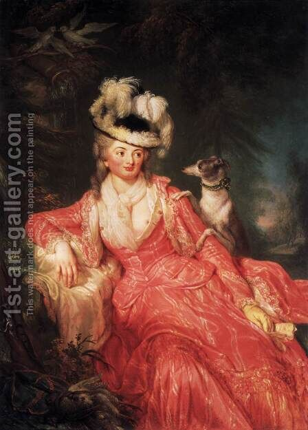 Wilhelmine Encke, Countess Lichtenau 1776 by Anna Dorothea Therbusch - Reproduction Oil Painting