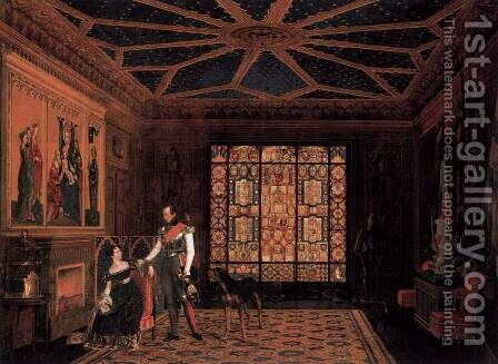 Armour Room in the Palace of Prince Frederick of Prussia by Carl Friedrich Zimmermann - Reproduction Oil Painting