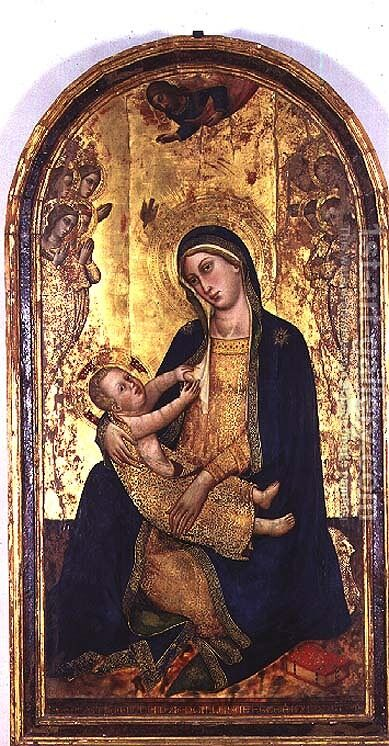 Madonna and Child by dei Gherarducci Silvestro - Reproduction Oil Painting