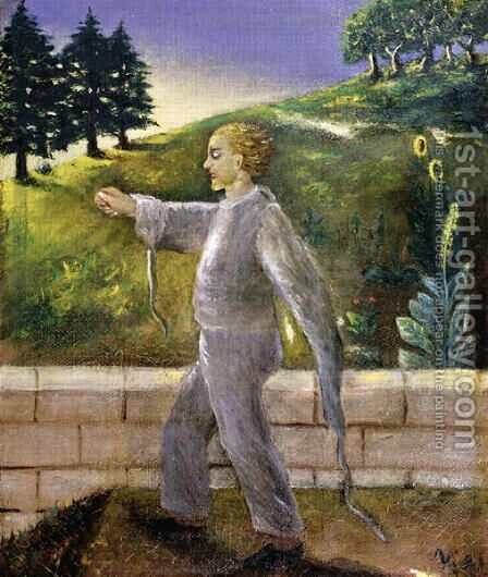 Mental patient going for an early morning walk by Dr. Max Simon - Reproduction Oil Painting