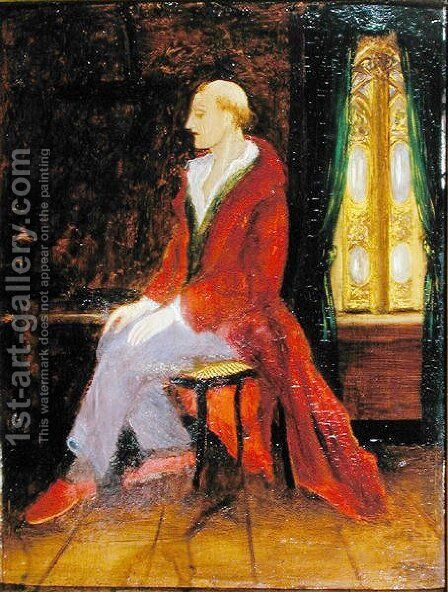 A Seated Madman by Dr. Max Simon - Reproduction Oil Painting