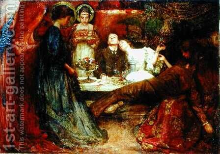 What are these to me and you who deeply drink of wine, 1895 by Charles Sims - Reproduction Oil Painting