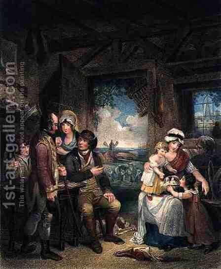 Peace, engraved by John Whessell c.1760-1823, pub. by T. Simpson and Darling and Thompson, 1798 by Henry Singleton - Reproduction Oil Painting