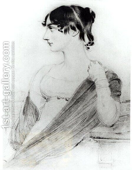 Portrait of Maria Edgeworth 1767-1849 by (after) Slater, Joseph - Reproduction Oil Painting