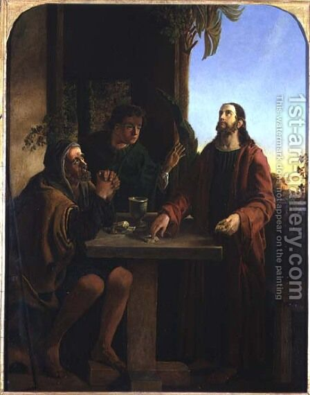 Christ at Emmaus by James Smetham - Reproduction Oil Painting