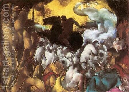 Biblical scene 1929 by David Jandi - Reproduction Oil Painting