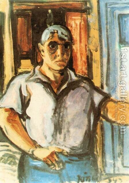 Self-portrait 1943 by David Jandi - Reproduction Oil Painting