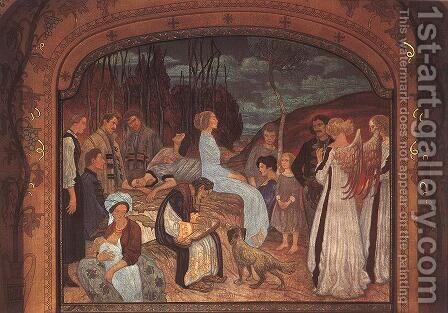 Szekely Folk Tales 1912 by Aladar Korosfoi-Kriesch - Reproduction Oil Painting