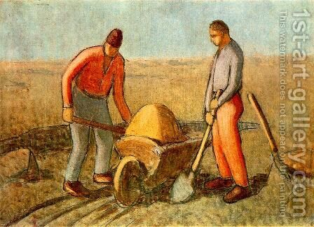 Navvies by Janos Nagy Balogh - Reproduction Oil Painting