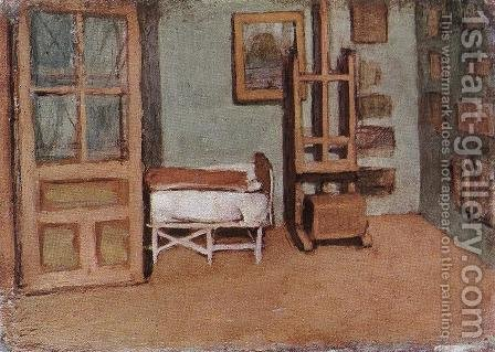 Atelier c. 1912 by Janos Nagy Balogh - Reproduction Oil Painting