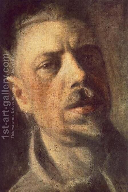 Self-portrait 1913 by Janos Nagy Balogh - Reproduction Oil Painting