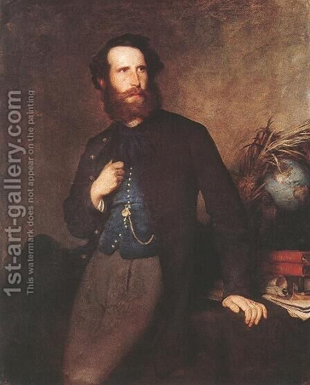Portrait of Pal Rosty 1862 by Bertalan Szekely - Reproduction Oil Painting