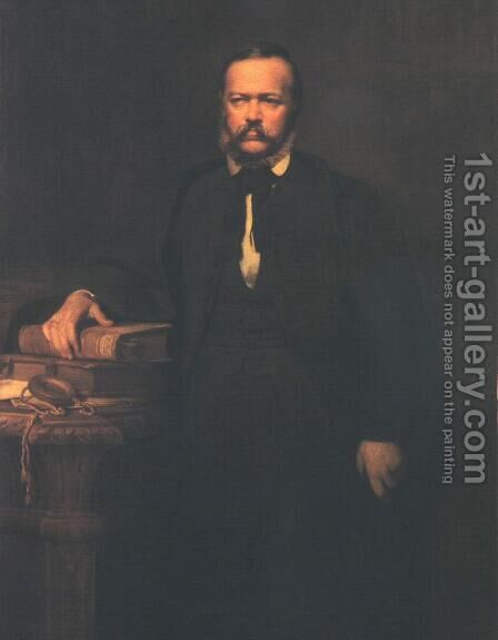 Portrait of Laszlo Szalay 1864 by Bertalan Szekely - Reproduction Oil Painting