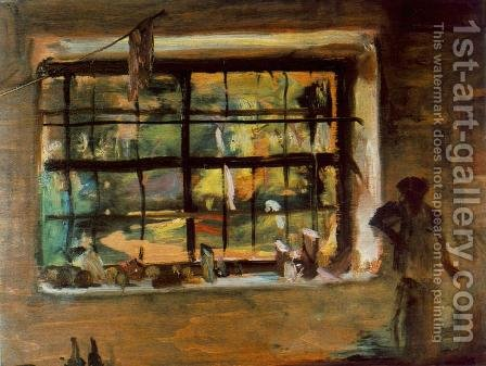 Window of the Atelier 1934 by Janos Tornyai - Reproduction Oil Painting