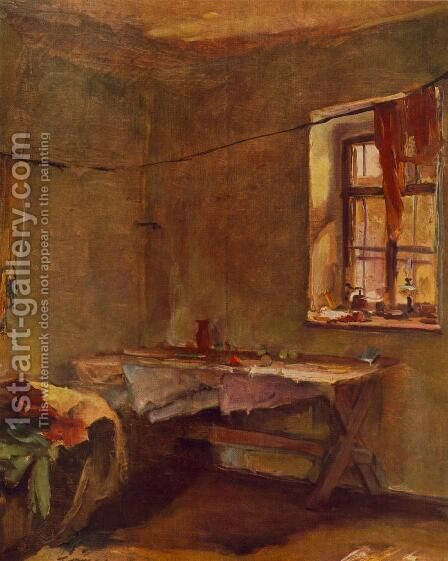 Interior 1934 by Janos Tornyai - Reproduction Oil Painting