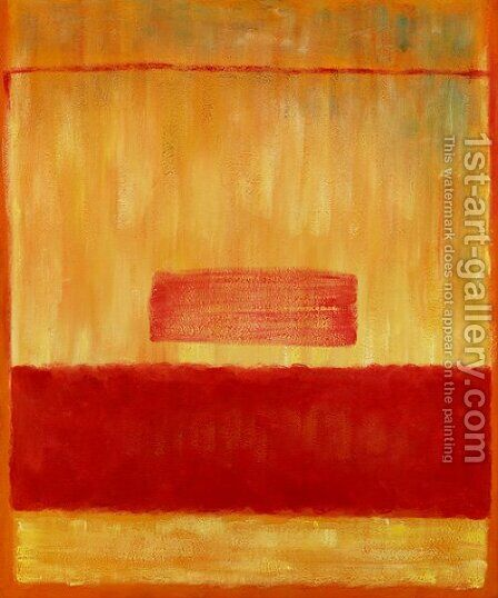 Untitled (Yellow and Red) by Mark Rothko (inspired by) - Reproduction Oil Painting