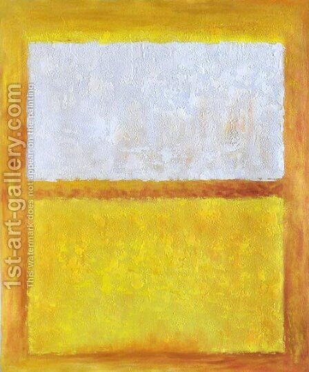 White, Orange and Yellow by Mark Rothko (inspired by) - Reproduction Oil Painting