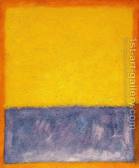 Yellow, Blue, and Orange by Mark Rothko (inspired by) - Reproduction Oil Painting