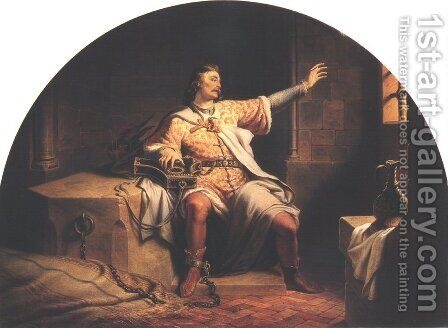 King Solomon in the Prison 1847 by Henrik Weber - Reproduction Oil Painting