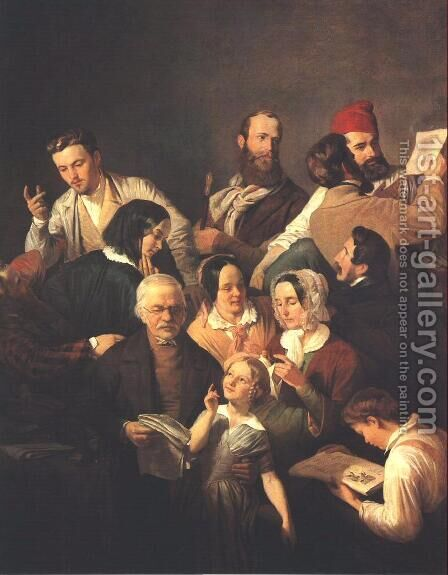 The Weber Family 1846 by Henrik Weber - Reproduction Oil Painting