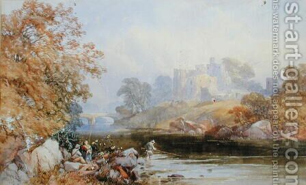 Brougham Castle, 1859 by James Burrell Smith - Reproduction Oil Painting