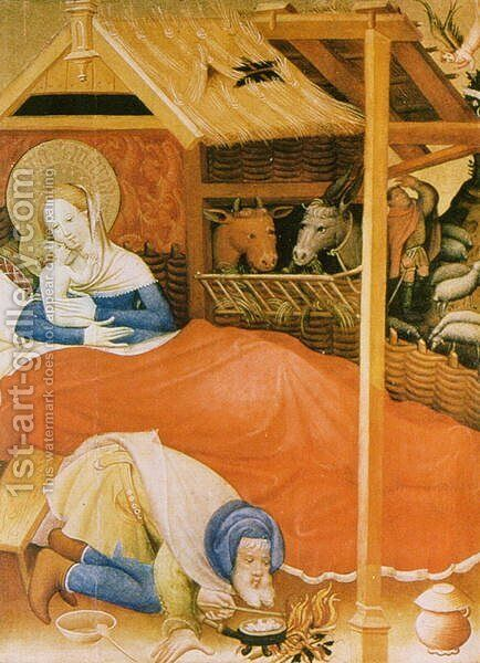 The Birth of Christ, 1404 by Conrad von Soest - Reproduction Oil Painting