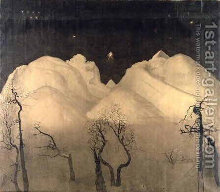 Winter Night in the Mountains, 1901-02 by Harald Oscar Sohlberg - Reproduction Oil Painting