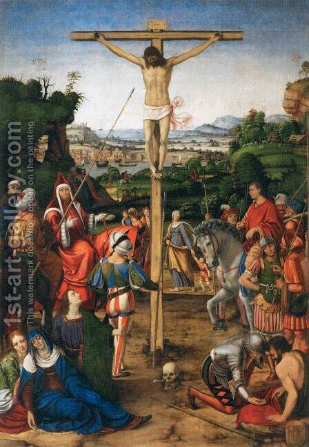 The Crucifixion, 1503 by Andrea Solario - Reproduction Oil Painting