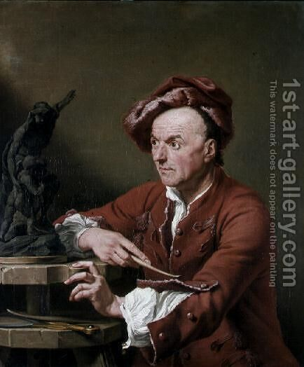 Louis Francois Roubillac by Andrea Soldi - Reproduction Oil Painting