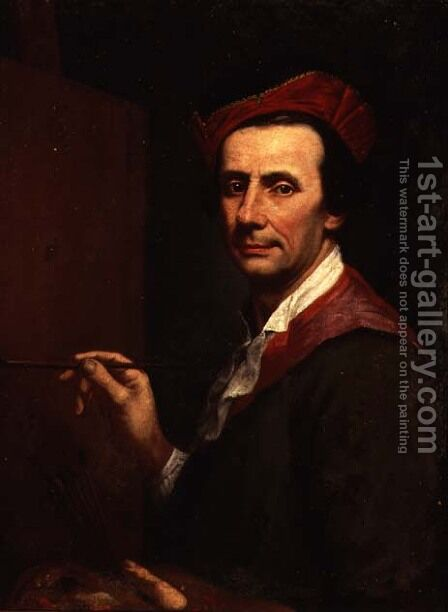 Artist at an Easel, c.1750s by Andrea Soldi - Reproduction Oil Painting