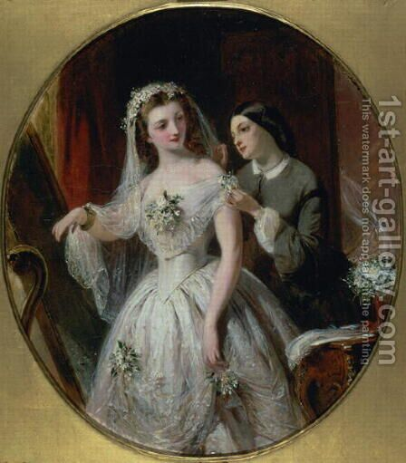 The Wedding Dress by Abraham Solomon - Reproduction Oil Painting