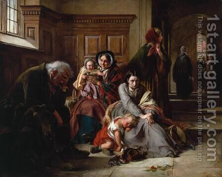Waiting for the Verdict by Abraham Solomon - Reproduction Oil Painting