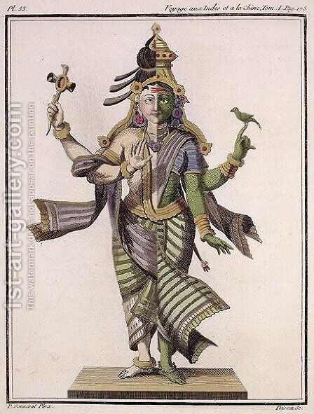 Ardhanarishvara, from Voyage aux Indes et a la Chine by Pierre Sonnerat, engraved by Poisson, published 1782 by (after) Sonnerat, Pierre - Reproduction Oil Painting