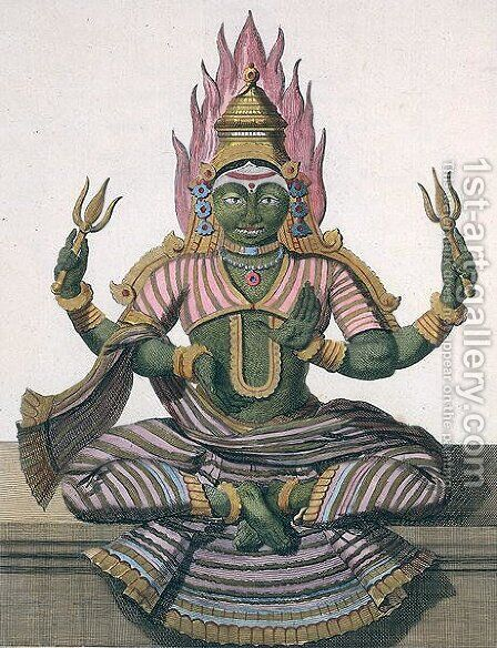 Parvati, from Voyage aux Indes et a la Chine by Pierre Sonnerat, engraved by Poisson, published 1782 by (after) Sonnerat, Pierre - Reproduction Oil Painting