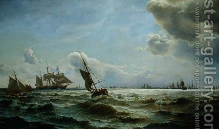Shipping off Copenhagen by Carl Frederik Sorensen - Reproduction Oil Painting