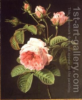 A Branch of Roses by Cornelis van Spaendonck - Reproduction Oil Painting