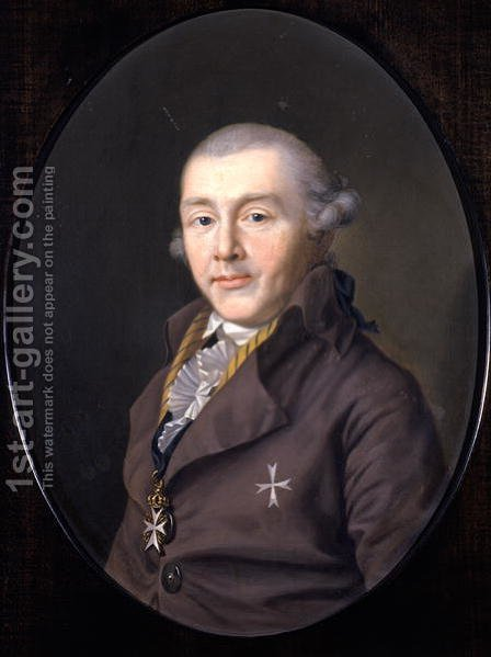 Portrait of Prince August von Sachsen-Gotha-Altenburg, 1795 by Ernst Christian Specht - Reproduction Oil Painting
