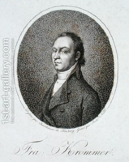 Franz Krommer 1759-1831 engraved by Jean Neidl by (after) Stainhauser, Gandolph Ernst - Reproduction Oil Painting