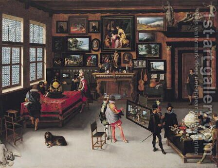 Science and the Arts by Adriaen van Stalbempt - Reproduction Oil Painting