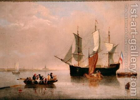 Dutch Coastal Scene, 1876 by Alfred Stannard - Reproduction Oil Painting