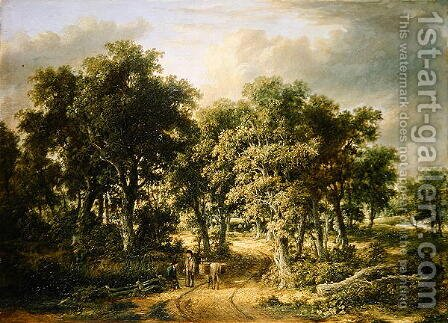 Wooded Landscape, c.1822-32 by James Stark - Reproduction Oil Painting