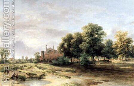 Eton College from Fellows Eyot by James Stark - Reproduction Oil Painting