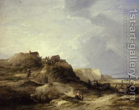 View of Mundesley, Near Cromer by James Stark - Reproduction Oil Painting