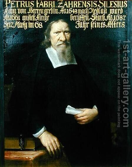 Portrait of Petrus Fabri by Andrzej Stech - Reproduction Oil Painting
