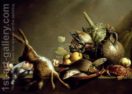 A Still Life with an Earthenware Jug and Hare by Harmen van Steenwyck - Reproduction Oil Painting