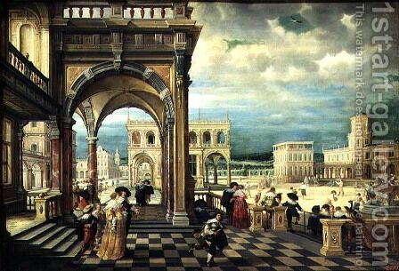 Italian Palace, 1623 2 by Hendrick van, the Younger Steenwyck - Reproduction Oil Painting