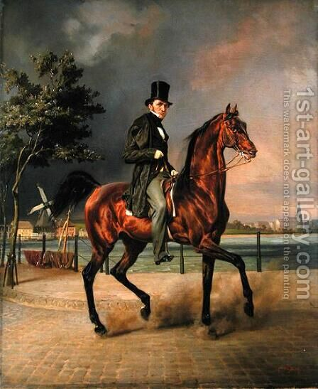 The Businessman, Carl August Staegemann 1803-64 by Carl Steffeck - Reproduction Oil Painting