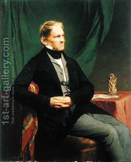 Georg Ernst Harzen 1790-1863 by Hermann Steinfurth - Reproduction Oil Painting
