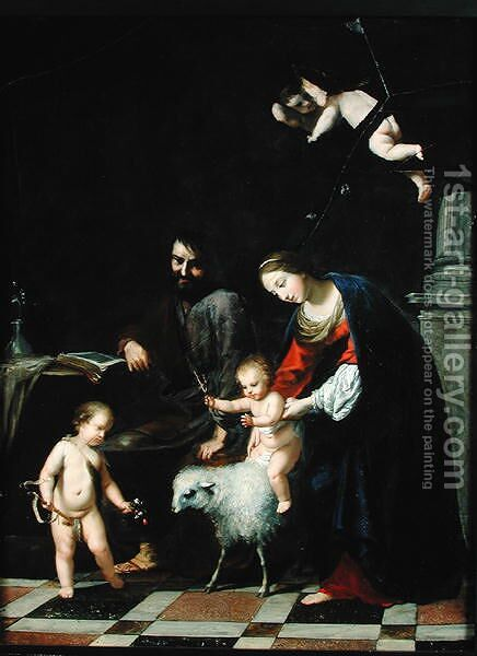 The Holy Family by Jacques Stella - Reproduction Oil Painting